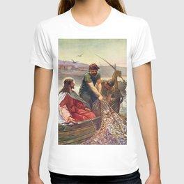 Peter and Jesus Fishing T-shirt