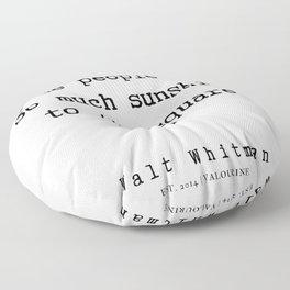 17    | Walt Whitman Quotes | 190803 Floor Pillow