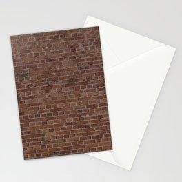 NYC Big Apple Manhattan City Brown Stone Brick Wall Stationery Cards