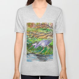 Floating Forest Unisex V-Neck