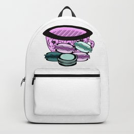 Floral Teacup with Macarons Backpack
