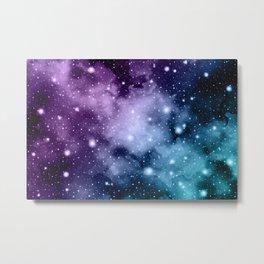 Purple Teal Galaxy Nebula Dream #2 #decor #art #society6 Metal Print