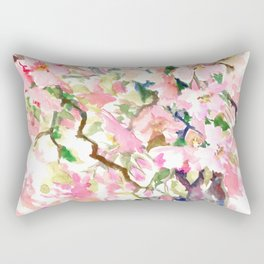 cherry blossom spring floral pattern Rectangular Pillow