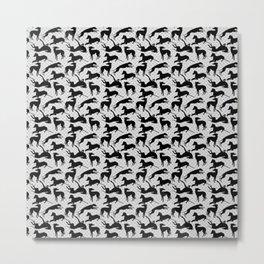 Greyt Burlesque Greyhounds Metal Print