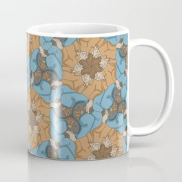 Reclining Dudes Tessellation Coffee Mug
