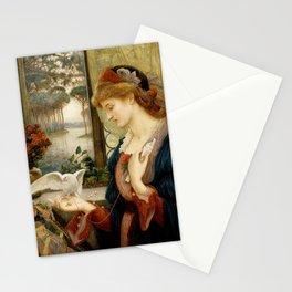 Marie Spartali Stillman - Love's Messenger Stationery Cards
