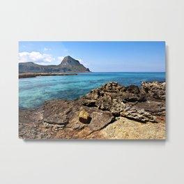 Sicilian Nature Reserve of Mount Cofano Metal Print