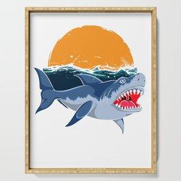 Shark Sun Waves Serving Tray
