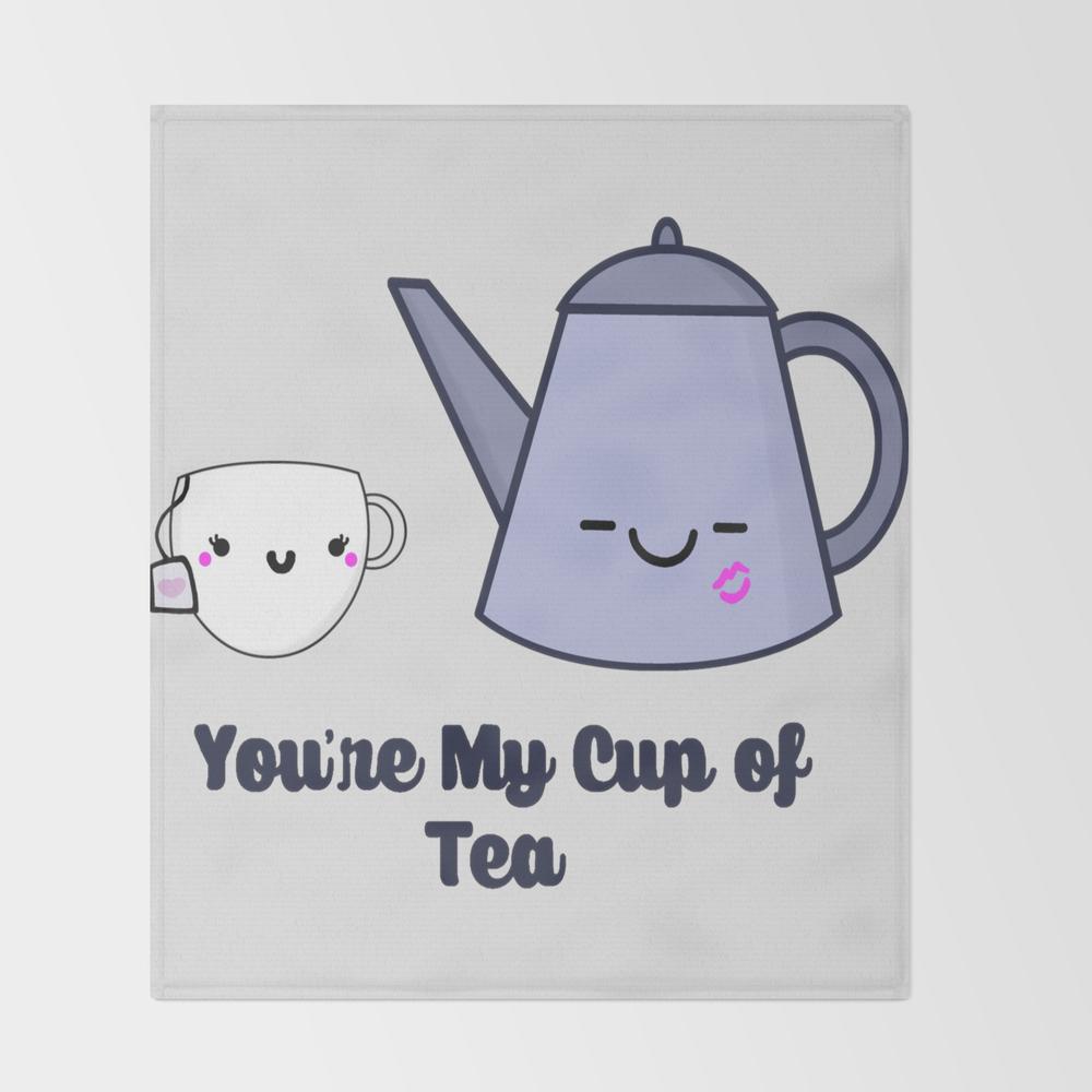 My Cup Of Tea Throw Blanket BLK7711896