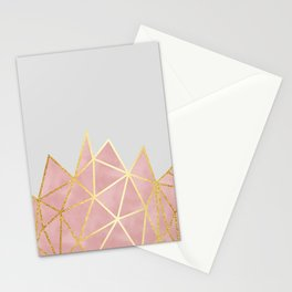 Pink & Gold Geometric Stationery Cards