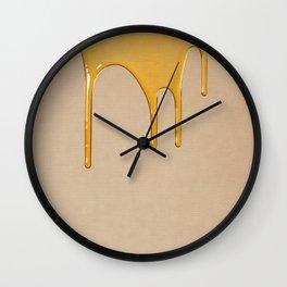 Honey on Linen No.1 Wall Clock