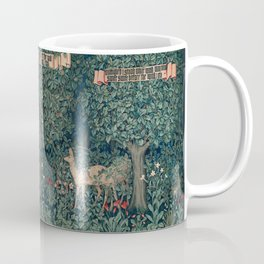 William Morris Forest Fox Greenery apestry Coffee Mug