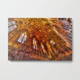 Thistle Chapel Canvas Texture Metal Print