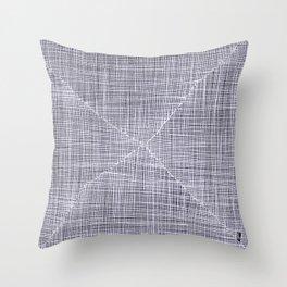 Ink Weaves: White Quartz Throw Pillow