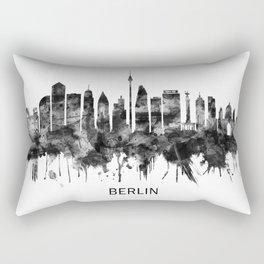 Berlin Germany Skyline BW Rectangular Pillow