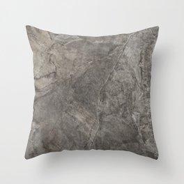 Rough Eurasia Stone - Gray Throw Pillow