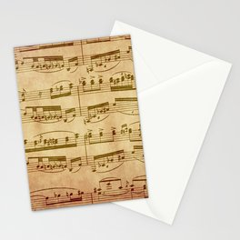 Vintage Sheet Music Stationery Cards