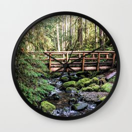 Wanderlust Beauty // Take Me to the Forest Where the Peaceful Waters Flow in the Dense Woods Wall Clock