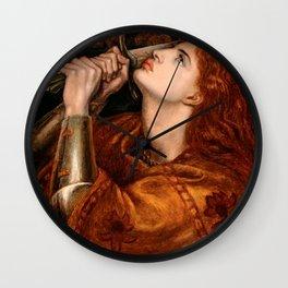 """Dante Gabriel Rossetti """"Joan of Arc"""" Wall Clock"""