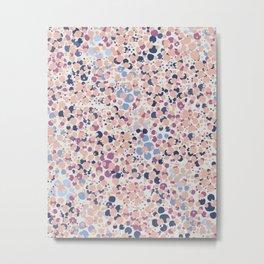 MOTAS - Spots, Dot, Coral, Pink, Blue Dots, Animal Print Metal Print