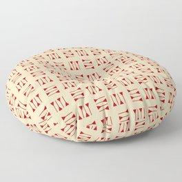 cuneiform 1 ceramic colors Floor Pillow
