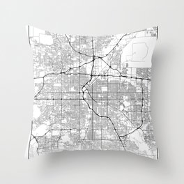 Minimal City Maps - Map Of Denver, Colorado, United States Throw Pillow