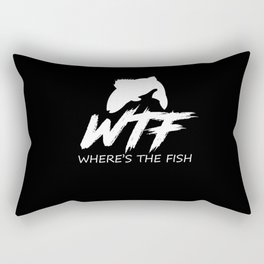 Where's The Fish Fishermen Fishing Lover Rectangular Pillow