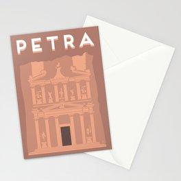 Treasury at Petra Travel Poster Stationery Cards