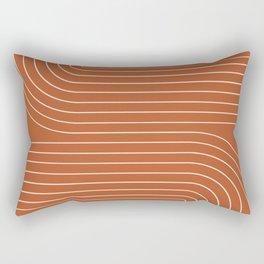 Minimal Line Curvature IX Rectangular Pillow