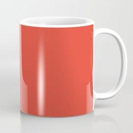 Cherry Tomato   Pantone Fashion Color Spring : Summer 2018   New York and London Solid Color   Coffee Mug