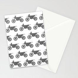 Grey Dirt Bikes Stationery Cards