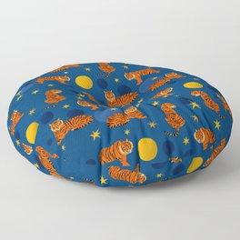 Cosmic Tigers Floor Pillow