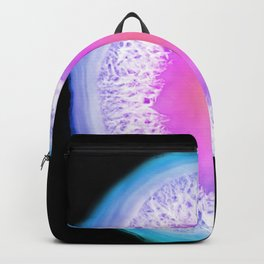 agate, quartz, crystal stone pink blue lilac lilac lilac Backpack