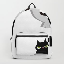 Funny Cat Mood Pun - Purring Backpack