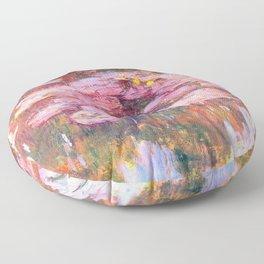 Water Lilies monet 1917 enhanced Floor Pillow