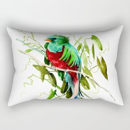 Quitzal Bird Rectangular Pillow