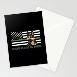 Military Working Dog Handler Stationery Cards
