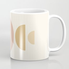 Geometric Shapes in Earthy Shades Coffee Mug