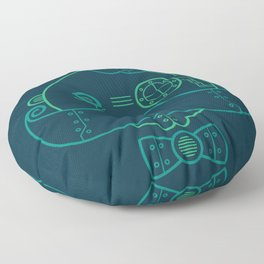 Old Fashioned Robot Floor Pillow