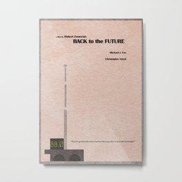 Back to the Future Metal Print