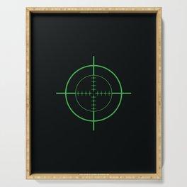 Gun Sight Crosshairs Serving Tray