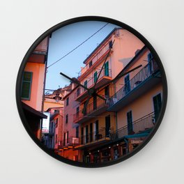 Sunset Pink Wall Clock