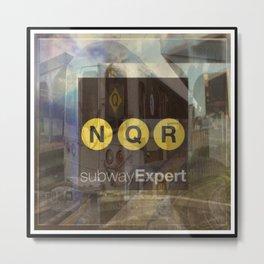 New York Subway Expert Metal Print
