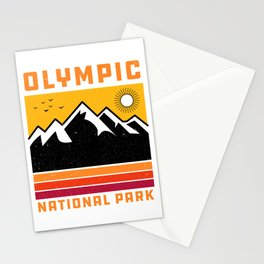 Olympic National Park Washington' Souvenir Vintage Mountain Stationery Cards