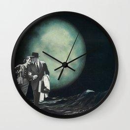 Moon Strolling Wall Clock