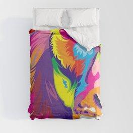 LION-FACE-ART Comforters