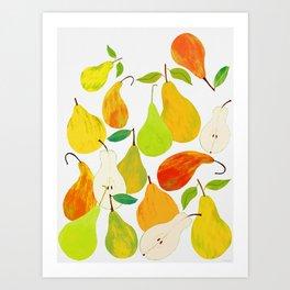 Pear Harvest Art Print