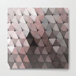 Triangles Putty Mauve Metal Print