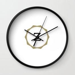 Vintage Letter Z Monogram Wall Clock