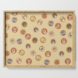 Cute Dogs 1 Serving Tray